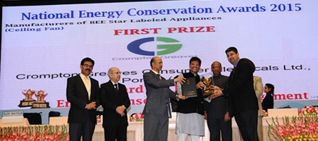 CGCEL Fans division awarded first prize in national energy conservation