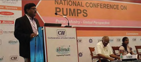 "Event sponsored for CII National Pump Conference by ""Crompton"" Pumps Division"