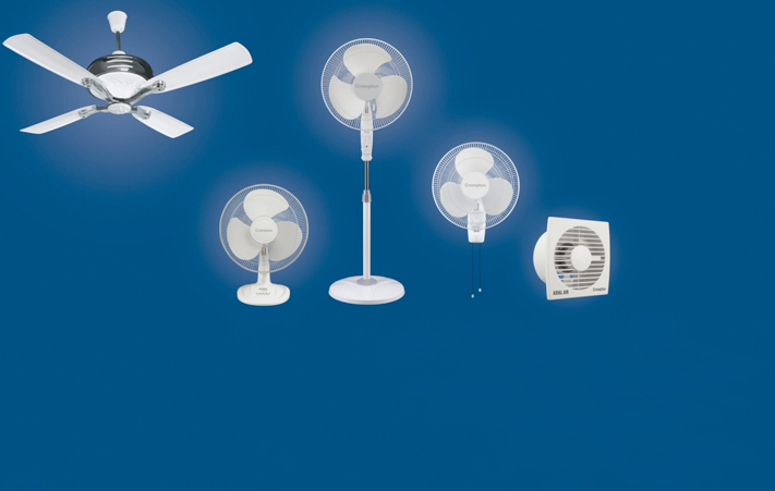 Fans, Appliances, Lighting and Pumps by Crompton