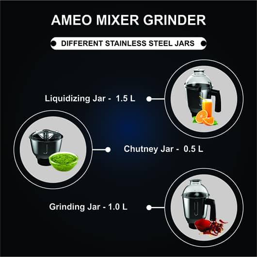 AMEO JARS CAPACITY